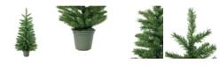 Northlight Slim Green Walkway Artificial Potted Christmas Tree - Unlit