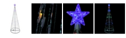 Northlight Multi-Color Led Lighted Show Cone Christmas Tree Outdoor Decoration