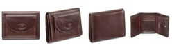 Mancini Equestrian2 Collection RFID Secure Trifold Wallet with Coin Pocket