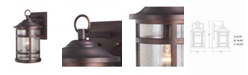 Vaxcel Southport Rust Proof Outdoor Wall Light with Clear Glass