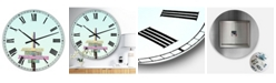 "Designart 4 Truth's of Life Oversized Cottage Wall Clock - 36"" x 28"" x 1"""