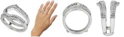 Macy's Diamond Double V Enhancer Ring (1/2 ct. t.w.) in 14k White Gold