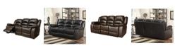 "Furniture Paloma 82"" Leather Recliner Sofa"