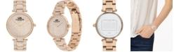COACH Women's Park Carnation Gold-Tone Bracelet Watch 34mm