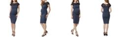 kimi + kai Morgan Maternity Lace Trim Body-Con Dress