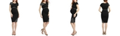 kimi + kai Gabby Maternity Colorblock Midi Dress
