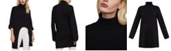 BCBGMAXAZRIA Cutout-Hem Turtleneck Sweater