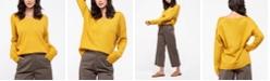 Blu Pepper Reverse Seam Knit Sweater