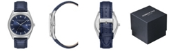Kenneth Cole New York Men's Dark Blue Genuine Leather Strap Watch, 41mm