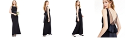 Adrianna Papell Crepe Satin-Waist Gown