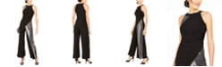 MSK Solid & Sequined Walk-Through Jumpsuit
