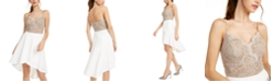 City Studios Juniors' Lace-Top High-Low Dress