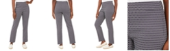 JM Collection Petite Oval-Print Jacquard Pants, Created For Macy's