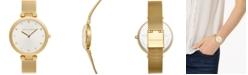 Rebecca Minkoff Women's Nina Gold-Tone Stainless Steel Mesh Bracelet Watch 33mm