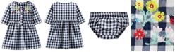 Carter's Baby Girls Cotton Embroidered Gingham Dress