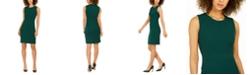 Nine West Jewel-Neck Sheath Dress