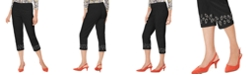 JM Collection Embellished-Hem Cropped Pants, Created For Macy's