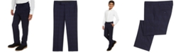 Calvin Klein Big Boys Stretch Sporadic Windowpane Plaid Suit Pants