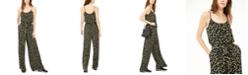 Michael Kors Floral-Print Tie-Waist Jumpsuit, Regular & Petite