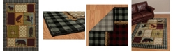 """Asbury Looms Designer Contours Cem Acadia Park 511 31775 28C Multi 2'7"""" x 7'4"""" Runner Rug"""