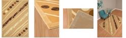 """Asbury Looms Cafe Crumpets 950 10926 28 Beige 1'11"""" x 7'2"""" Runner Rug"""