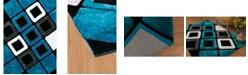 """Asbury Looms Finesse Plush 2100 21063 24 Aqua 1'10"""" x 3' Area Rug"""
