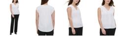 Calvin Klein Ruched-Shoulder Top