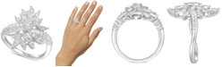 Macy's Diamond Cluster Statement Ring (1/2 ct. t.w.) in 14k White Gold