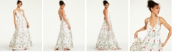 City Studios Juniors' Embroidered Strappy-Back Gown, Created for Macy's