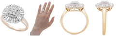Macy's Diamond Baguette Cluster Statement Ring (3/4 ct. t.w.) in 14k Gold