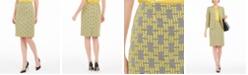 Kasper Petite Jacquard Plaid Pencil Skirt