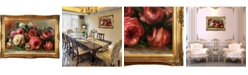 """La Pastiche by Overstockart Discarded Roses by Pierre-Auguste Renoir with Victorian Frame Oil Painting Wall Art, 44"""" x 32"""""""