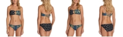 Raisins Juniors' Mallorca Printed Bayshore Bandeau Bikini Top and Lowrider Bottoms