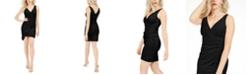 GUESS V-Neck Asymmetrical Dress