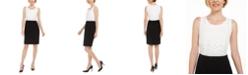 Kasper Two-Tone Sheath Dress