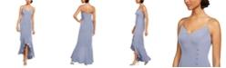 Adrianna Papell Ruffled Button-Down Mermaid Gown