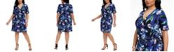 Connected Plus Size Jersey Wrap Dress