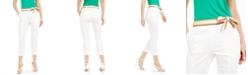 Marella Striped-Belt Ankle Pants