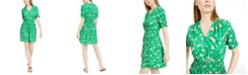 Maison Jules Floral-Print Smocked-Waist Dress, Created for Macy's