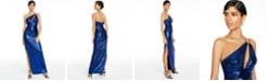 Aidan by Aidan Mattox One-Shoulder Sequin Gown