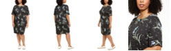 Karen Scott Plus Size Printed Elbow-Sleeve Dress, Created for Macy's