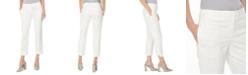 Kasper Floral-Jacquard Slim-Leg Ankle Pants