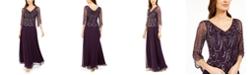 J Kara Cowlneck Beaded Gown