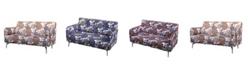 Us Pride Furniture Gail Pattern Print Fabric Modern Loveseat
