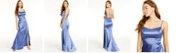 Teeze Me Juniors' Blue Satin Gown