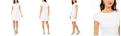 Kasper Kapser Textured Fit & Flare Dress