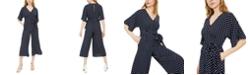 INC International Concepts INC V-Neck Polka-Dot Jumpsuit, Created for Macy's