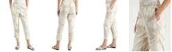 Alfani Floral Linen Pull-On Ankle Pants