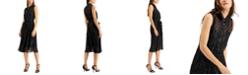 Calvin Klein Embellished Chiffon Shirtdress