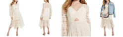 GUESS Marcella Crocheted Midi Dress